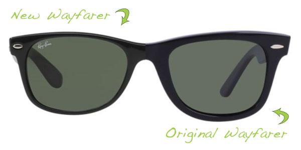 New Wayfarer vs Original Wayfarer size comparison